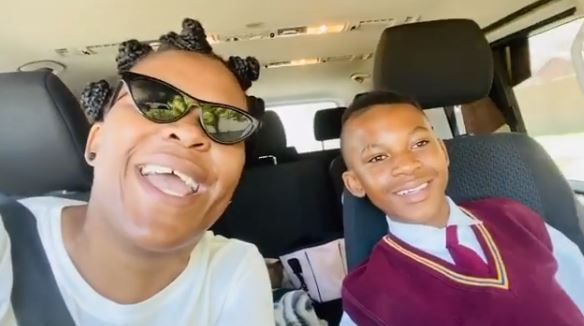 Zodwa Gets Dragged For Allowing Her Son To Have A Gold Tooth - ZAlebs